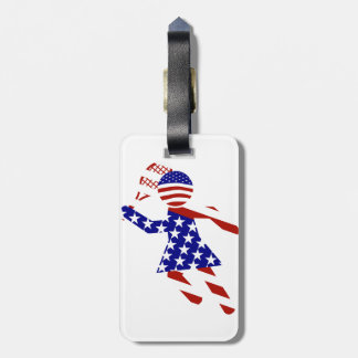 USA Patriotic Womens Tennis Player Tags For Luggage