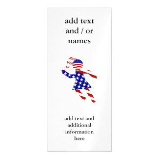 USA Patriotic Women's Tennis Player Magnetic Invitations