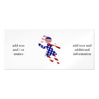 USA Patriotic Women's Tennis Player Magnetic Invitations