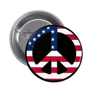 USA Peace Symbol Designs & Products! 6 Cm Round Badge