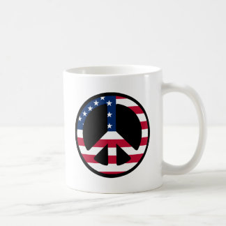 USA Peace Symbol Designs & Products! Basic White Mug