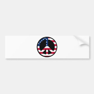 USA Peace Symbol Designs & Products! Bumper Stickers