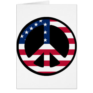 USA Peace Symbol Designs & Products! Greeting Card