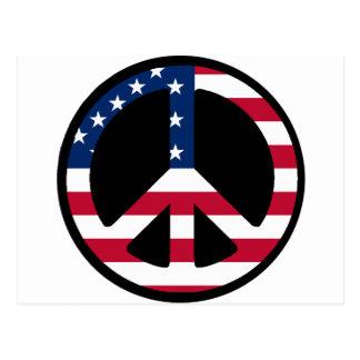 USA Peace Symbol Designs & Products! Postcard
