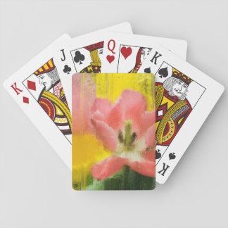 USA, Pennsylvania. Abstract tulip impression Playing Cards
