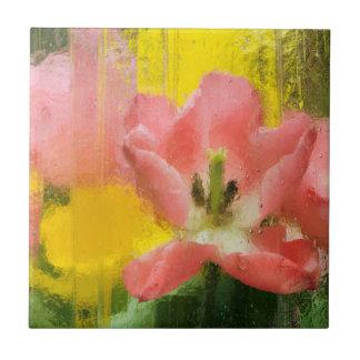 USA, Pennsylvania. Abstract tulip impression Tile