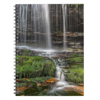 USA, Pennsylvania, Benton. Delicate Waterfall Notebook