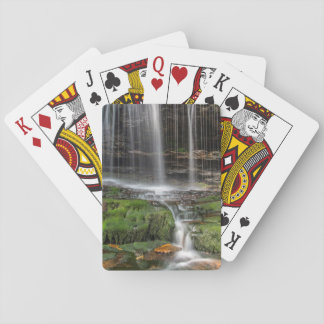USA, Pennsylvania, Benton. Delicate Waterfall Playing Cards