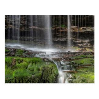 USA, Pennsylvania, Benton. Delicate Waterfall Postcard