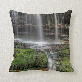USA, Pennsylvania, Benton. Delicate Waterfall Throw Pillow