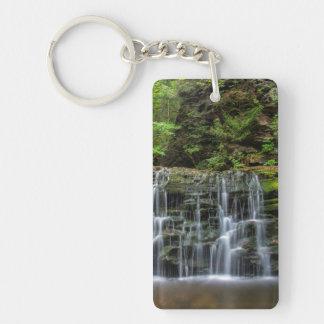 USA, Pennsylvania, Benton. Waterfall In Ricketts Key Ring
