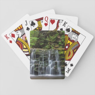 USA, Pennsylvania, Benton. Waterfall In Ricketts Playing Cards
