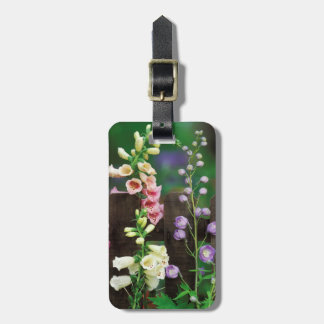 USA, Pennsylvania. Foxglove and delphinium Bag Tag