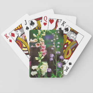 USA, Pennsylvania. Foxglove and delphinium Playing Cards