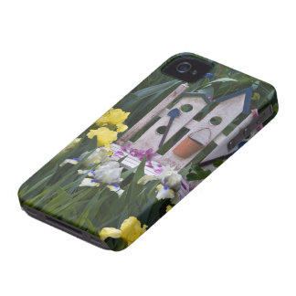 USA, Pennsylvania. Garden irises grow around iPhone 4 Cover