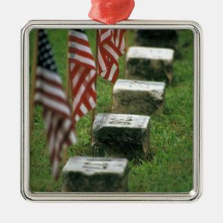 USA, Pennsylvania, Gettysburg. Civil war Silver-Colored Square Decoration