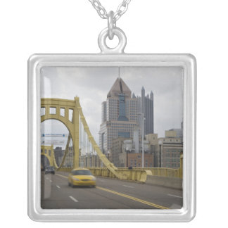 USA, Pennsylvania, Pittsburgh. The 6th Street Silver Plated Necklace