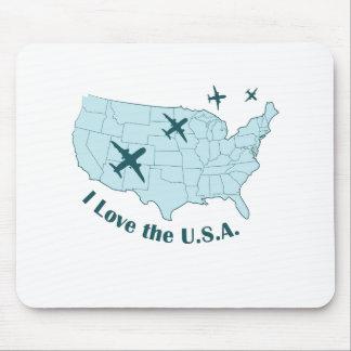 USA Planes Mouse Pad