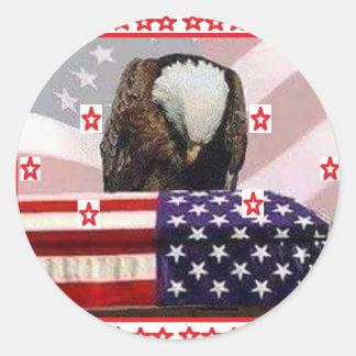 USA.png EAGLE Round Sticker