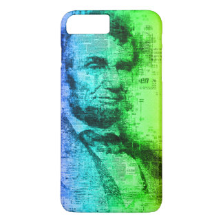 USA President Abraham Lincoln Rainbow Typography iPhone 8 Plus/7 Plus Case