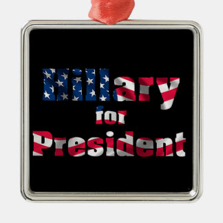 USA Presidential Election  Premium-Square-Ornament Silver-Colored Square Decoration