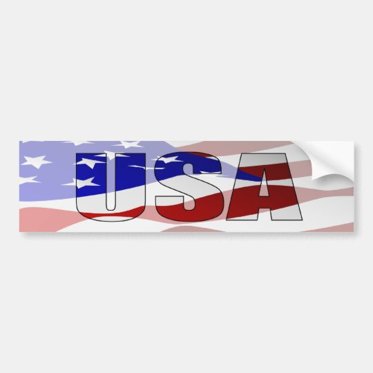 USA Pride Bumper Sticker