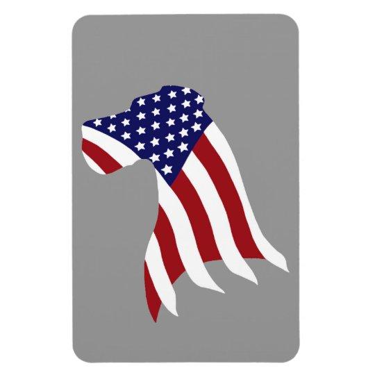 USA Pride Great Dane Rectangular Photo Magnet
