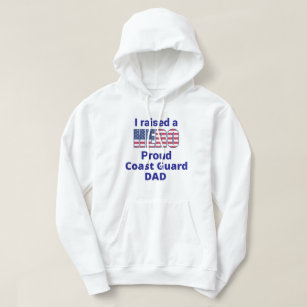 1bfd0c44 USA Pride - I Raised a Hero Proud Coast Guard Dad Hoodie