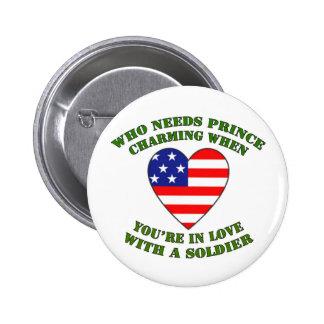 usa- prince charming 6 cm round badge