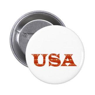 USA - Proud IDENTITY Sparkle RED ENERGY STRENGTH 6 Cm Round Badge
