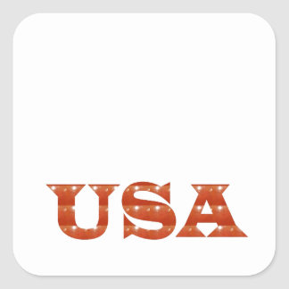 USA - Proud IDENTITY Sparkle RED ENERGY STRENGTH Square Sticker