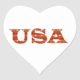 USA - Proud IDENTITY Sparkle RED ENERGY STRENGTH Sticker