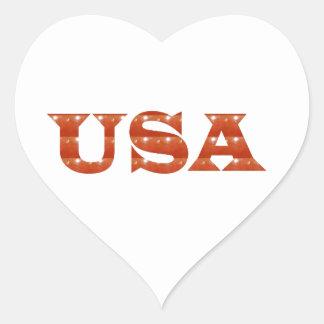 USA - Proud IDENTITY Sparkle RED ENERGY STRENGTH Sticker