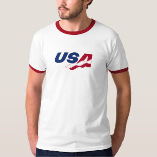 USA Racquetball Ringer Tee Shirt