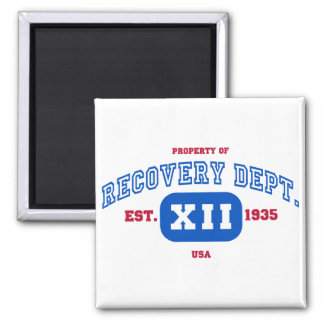 USA Recovery Square Magnet