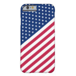 USA Red Blue White Stripes Stars Flag iPhone6 Case Barely There iPhone 6 Case