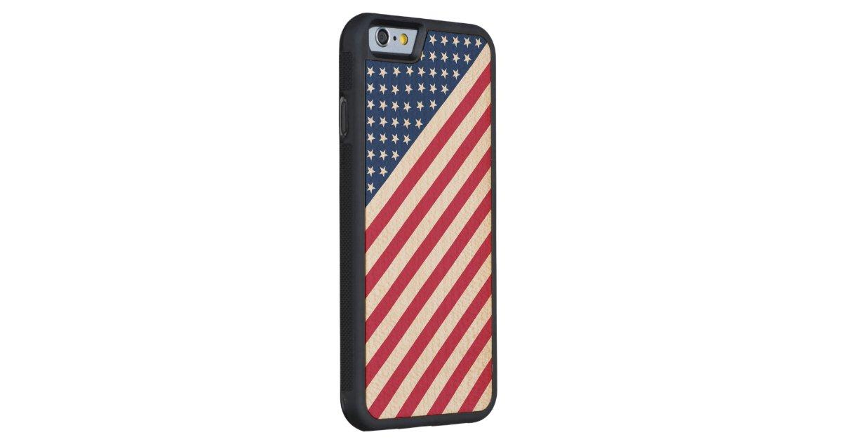 Usa Red Blue White Stripes Stars Flag Iphone6 Case Maple