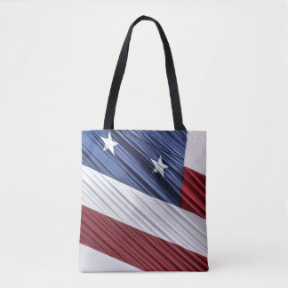 USA Red, White and Blue American Patriotic Flag Tote Bag