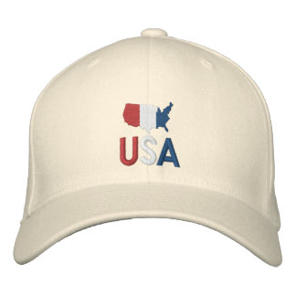USA Red White and Blue American Patriotism Baseball Cap