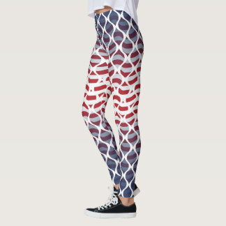 USA Red, White and Blue Leggings