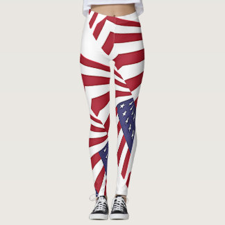 USA Red white and Blue Leggings