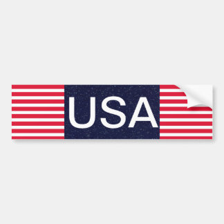 USA Red White and Blue Patriotic 4th of July Bumper Sticker