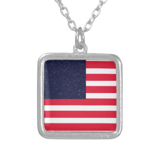 USA Red White and Blue Patriotic 4th of July Personalized Necklace