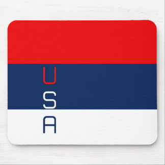 USA Red White and Blue Striped Patriotic Mousepad