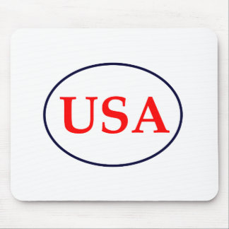 USA Red White and Blue The MUSEUM Zazzle Gifts Mousepads