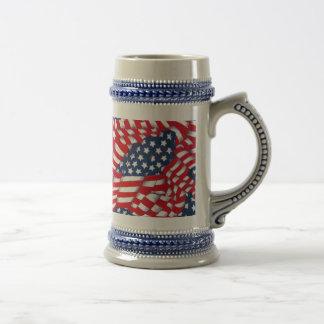USA,Red,White & Blue_ Beer Stein