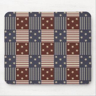 USA Red White Blue Stars Stripes Mousepad