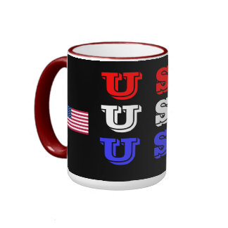 USA- Red White Blue USA Mug
