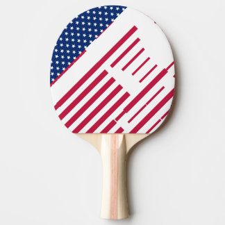 USA Red White Stars Stripes Table Tennis Ping Pong