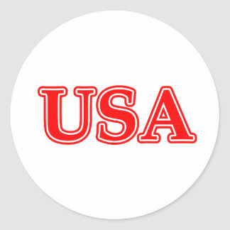 USA Red White The MUSEUM Zazzle Gifts Round Sticker